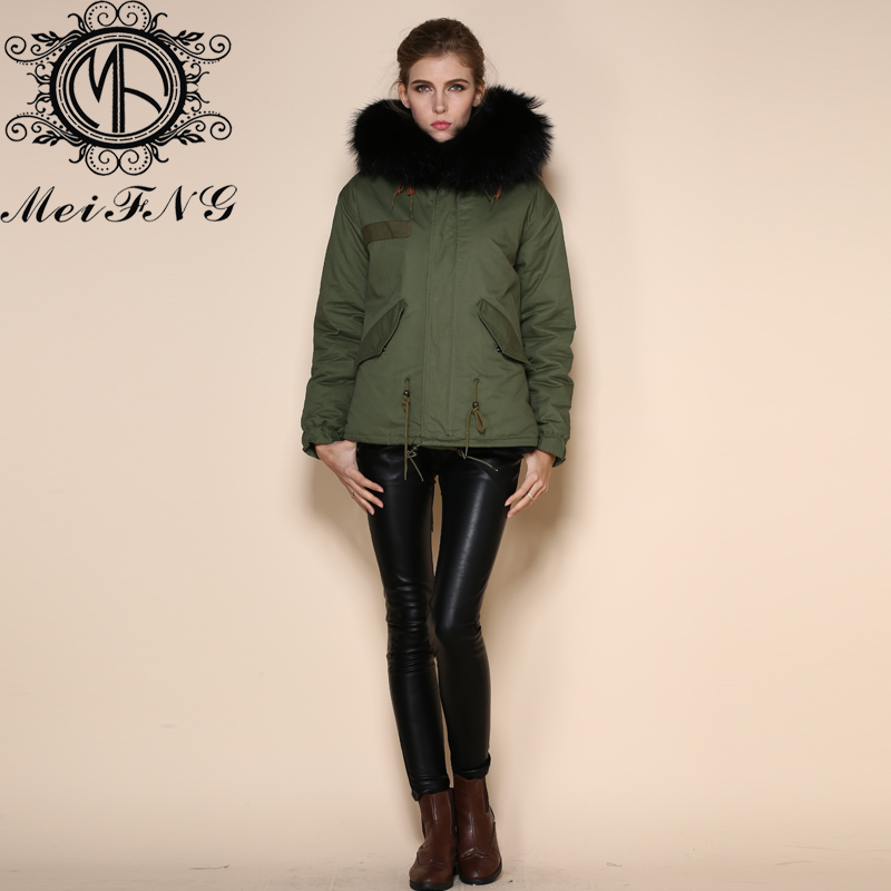 Manufacturer High Quality Fashion Women Real Fox Fur Hooded Parka ...
