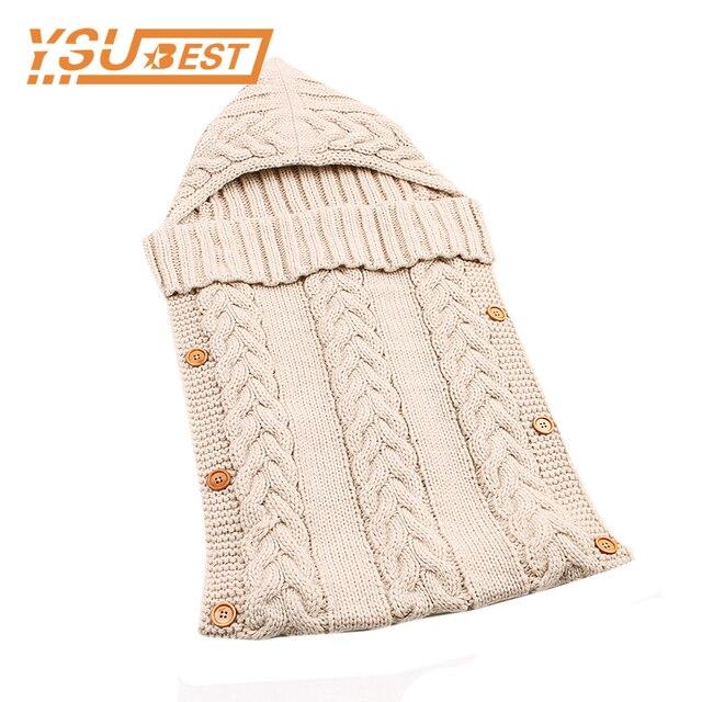 459101eeb 0 12 Month Winter Newborn Kids Toddler Knit Blanket Swaddle Sleeping ...