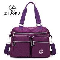 ZHUOKU Woman Nylon Bag Woman Shoulder Bags For Woman 2017 New Messenger Bag Travel Crossbody Bag