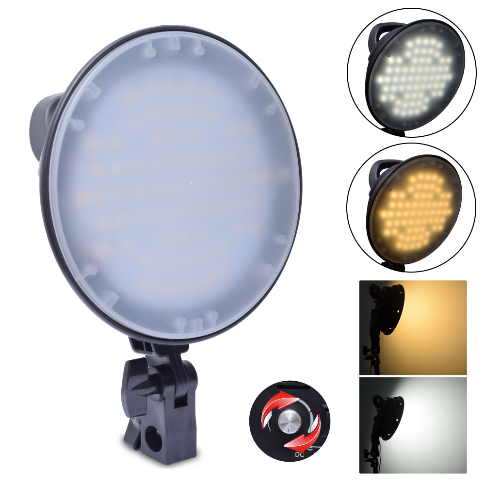 Fotoconic 45W 2700K 5500K 126 LED Dimmable Studio Photo Video Light Lamp Head for Photography Lighting new photographic equipment 8pcs pro e27 220v 45w 5500k photo video bulb photography studio light lamp freeshipping
