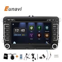 """Eunavi 2 DIn DVD Del Coche de 7 """"HD Para VW POLO GTI GOLF 5 6 JETTA MK5 MK6 PASSAT B6 Touran Sharan Con GPS de Navegación de Radio RDS"""