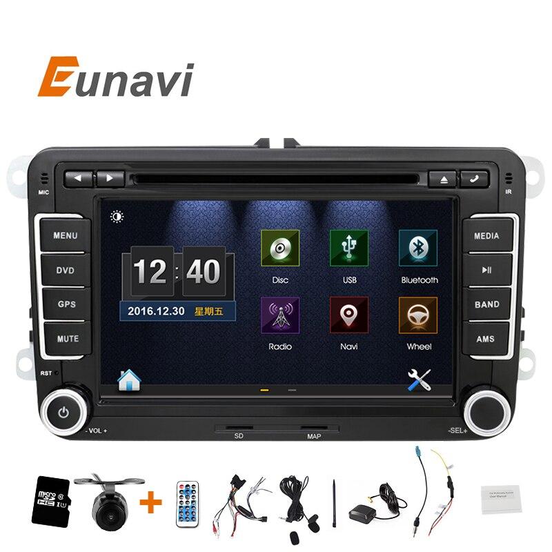 imágenes para Eunavi 2 DIn DVD Del Coche de 7 ''HD Para VW POLO GTI GOLF 5 6 JETTA MK5 MK6 PASSAT B6 Touran Sharan Con GPS de Navegación de Radio RDS