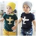 De! 2013 crianças roupas de verão de manga curta bebê lazer avião menino atacado crianças t-shirt 5 pçs/lote