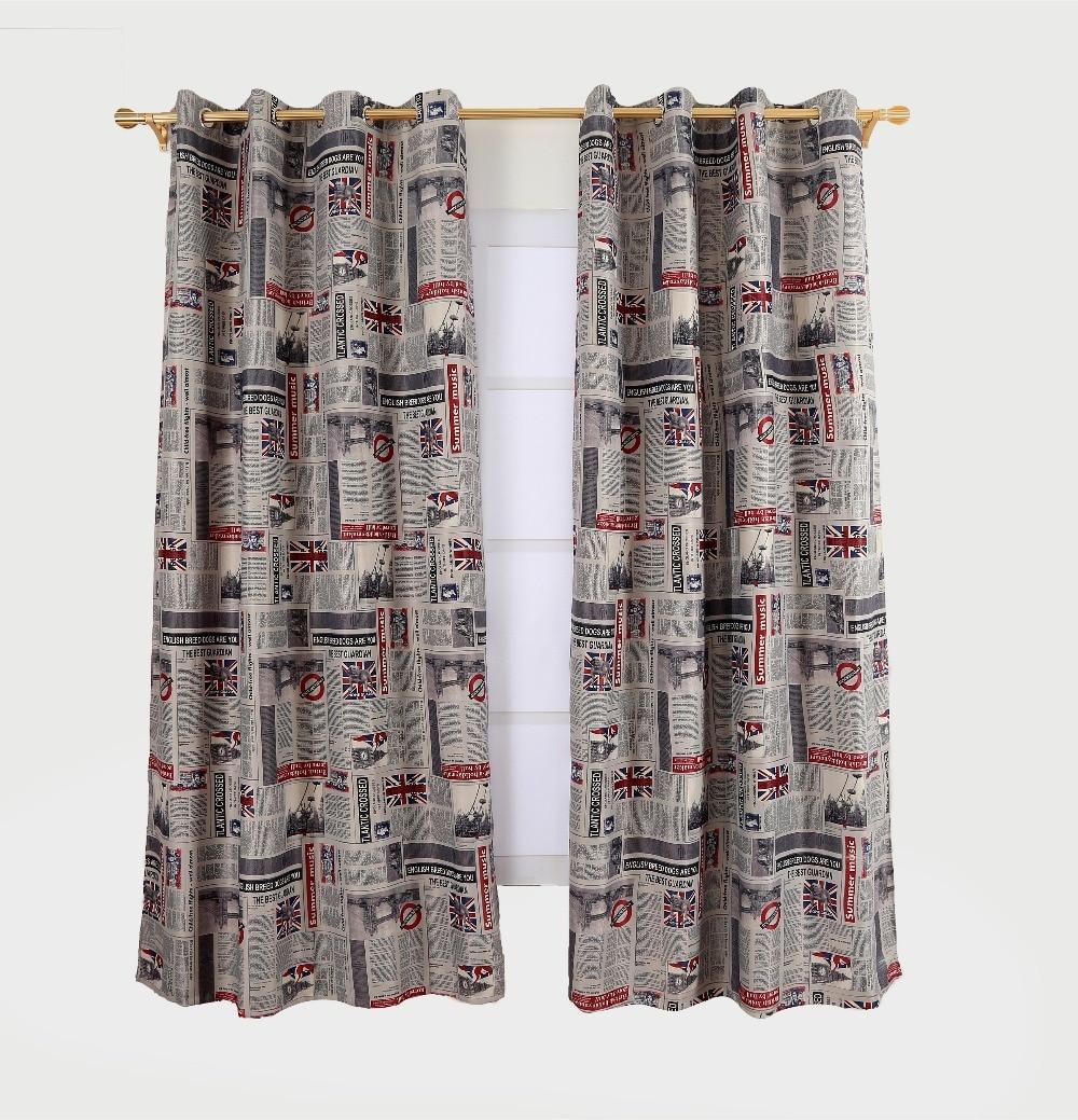 Luxus Tuch British Blackout Vorhänge Für Wohnzimmer Vorhang Fenster Flagge Gedruckt Stoff Behandlungen Weiße Vorhänge Für Schlafzimmer