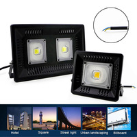 30W/50W/100W LED Flood Light Outdoor Search Lamp LED Luminaire Ultra Thin Spotlight CLH@8