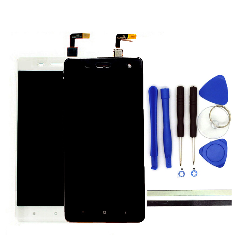 100% New For Xiaomi Mi4 LCD Display + Digitizer Touch Screen Replacement 5.0inch M4 Mi 4 Cell Phone Parts With Free Tools
