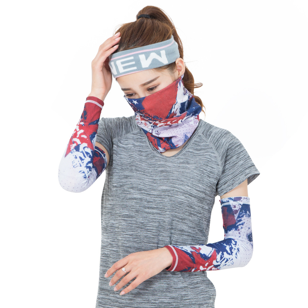 Cycling Arm Sleeves and Scarf Muti Color Summer Quick Dry Cuff Sleevelets and Mask UV Protection Bike Jersey Sports Equipment