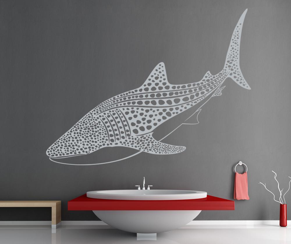 Marine dier walvishaai vinyl muur applique marine leven stijl badkamer woonkamer woondecoratie art muurschildering YS08