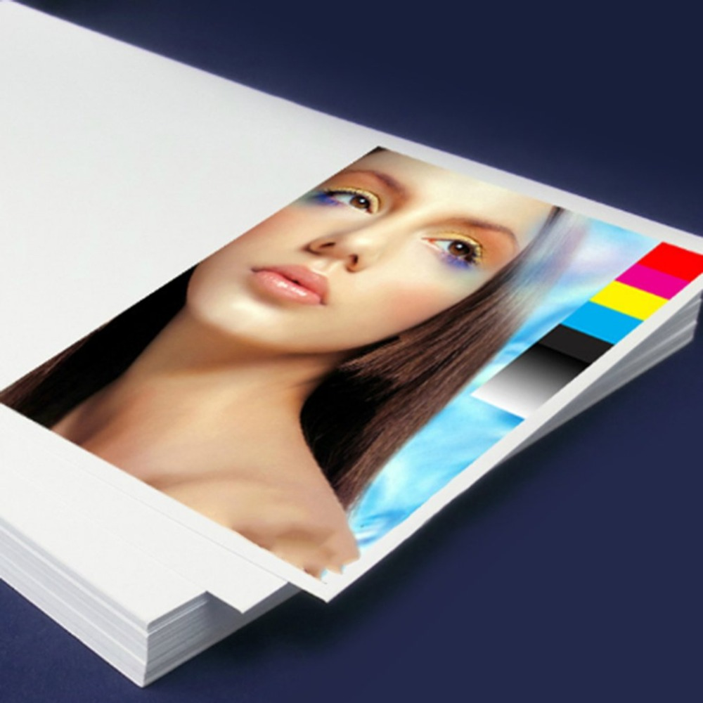 50 Sheets Glossy 3D Printer Photo Paper For Inkjet Printers A4 5760DPI Printing Precision Double Side Drop Shipping Universal