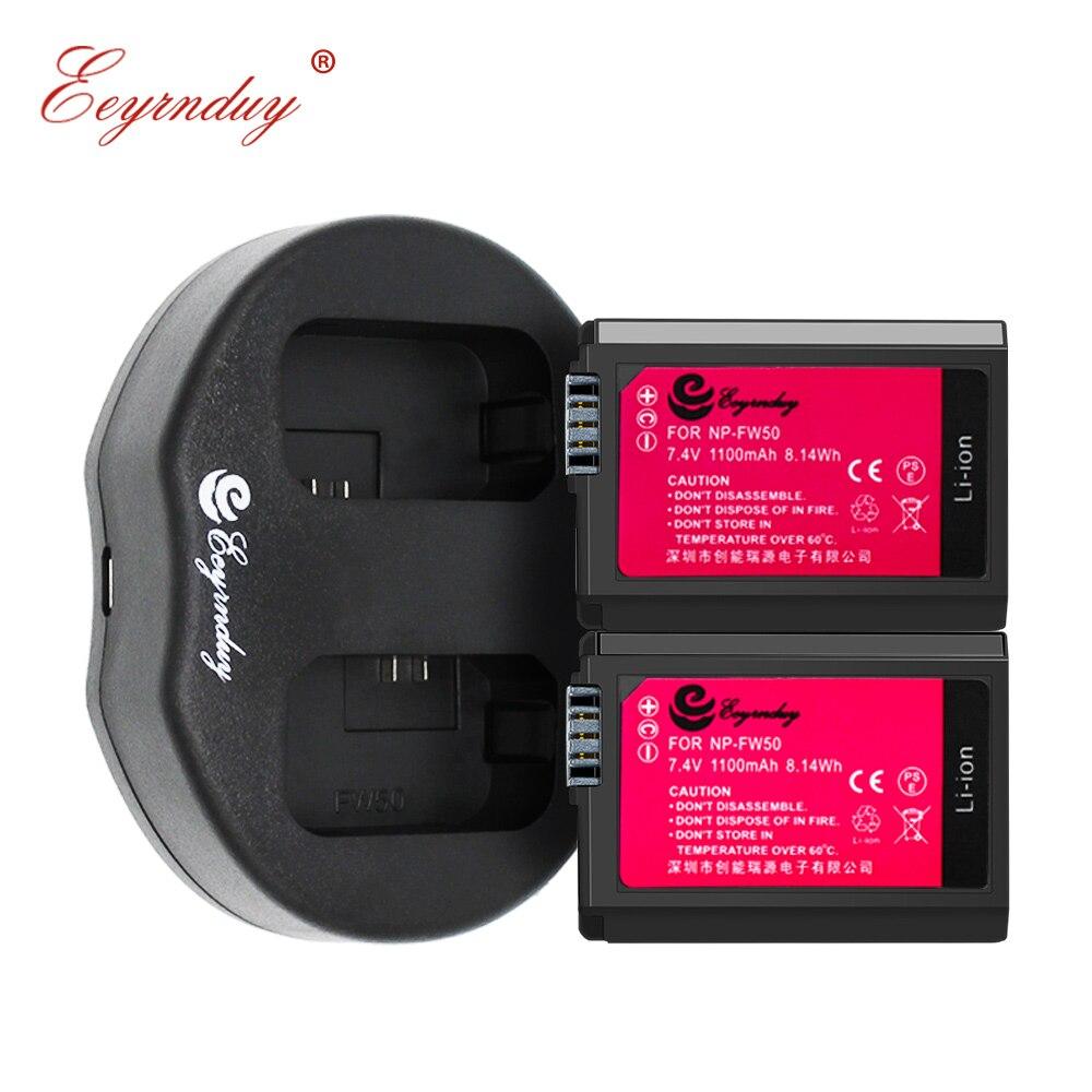 2 piezas NP-FW50 NP FW50 batería + USB cargador Dual para Sony NEX-7 NEX-5N NEX-F3 SLT-A37 A7 NEX-5R NEX-6 NEX-3 NEX-3A Alpha 7R II