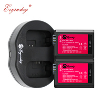 2pcs NP FW50 NP FW50 battery + USB Dual Charger for Sony NEX 7 NEX 5N NEX F3 SLT A37 A7 NEX 5R NEX 6 NEX 3 NEX 3A Alpha 7R II