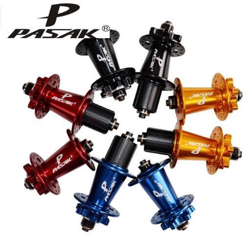 Original brake disc MTB mountain bike hub PASAK bicycle hubs 32 Holes 32 h red black