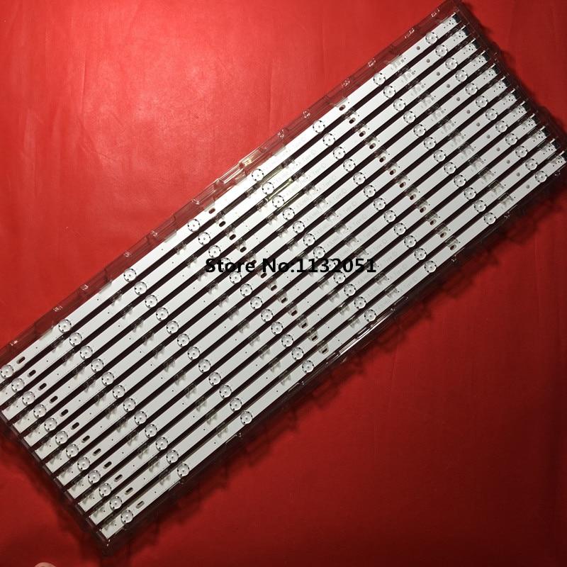 Nouveau 5 set = 15 pièces 7 Led 830mm bande pour TÉLÉVISION LG 43UJ634V 43LJ61_FHD_L LC43490059A LC43490058A Innotek 17Y 43inch_A-Type