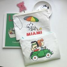 Buy SIXONE Vacation Rogue Dog Pen Bag Cosmetic Bag Cartoon Printed Canvas Handbag Cute Student Pen Bag Personality Storage Bag directly from merchant!