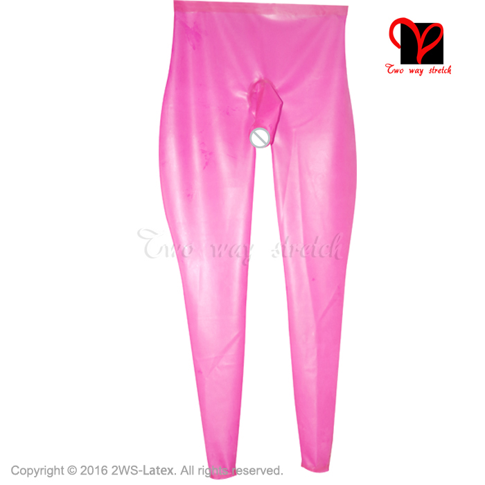 transparent natural with black loosely Sexy Long Latex Leggings Rubber Pants Trousers bottoms pants KZ 160 - 6