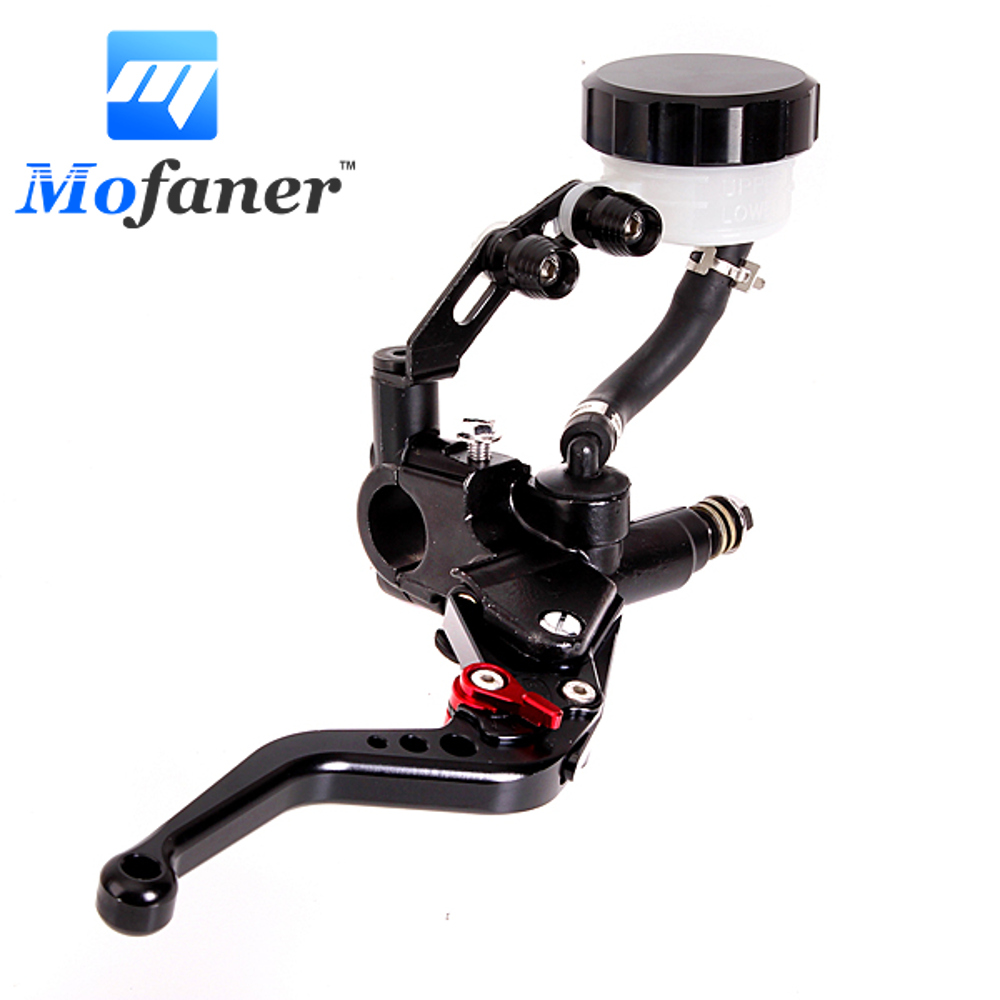 1 Piece New Black Right Universal Motorcycle Brake Clutch Lever Master Cylinder