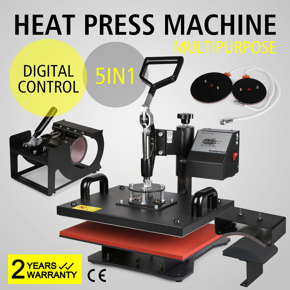 HP5 in 1 Warmte Pers Overdracht Machine voor T shirt/Mok