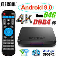 MECOOL KM9 Android 9 Smart TV Box 4G DDR4 64G ROM 2.4G/5G WiFi Bluetooth 4.1 Amlogic S905X2 Android 9.0 TV Box Media Player