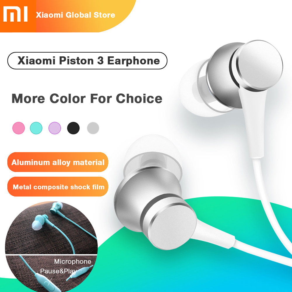 Original Xiaomi headphones Piston 3 headset Youth Colorful Edition 3.5mm 3rd Bass headset New Version Headset with Remote & Mic new original xiaomi mi based version of millet piston headset ear type universal cute girl youth version of millet piston