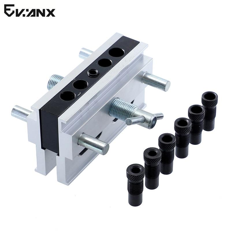 Selbst Zentrierung Doweling Jig Mit 1/4 ''3/8''5/16 ''Stick Adapter Verbindungs Bohren Loch Tasche HoleJig Holzbearbeitung