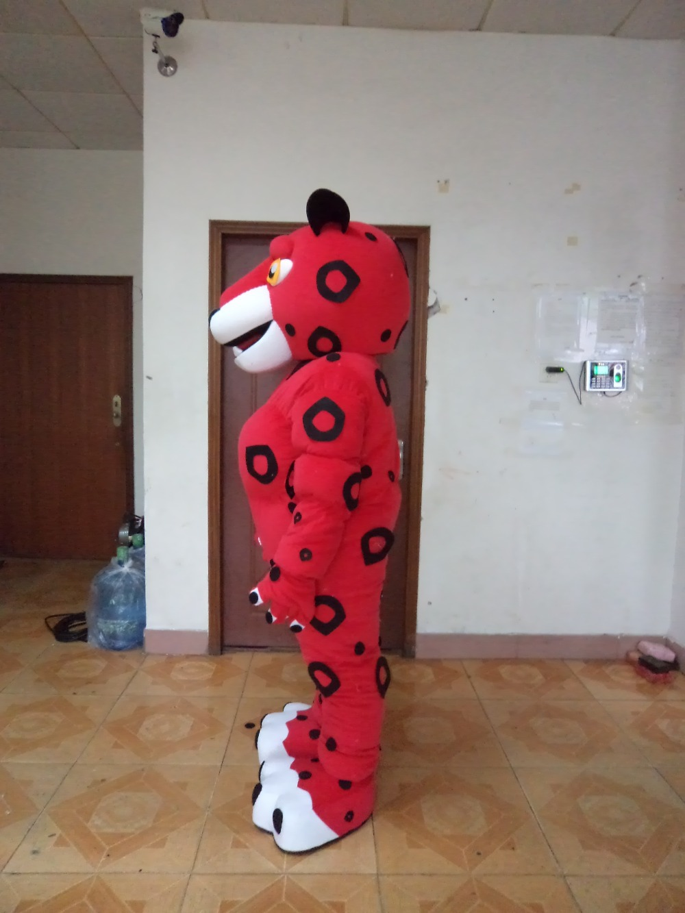 adult red tiger mascot costume for sale Dress