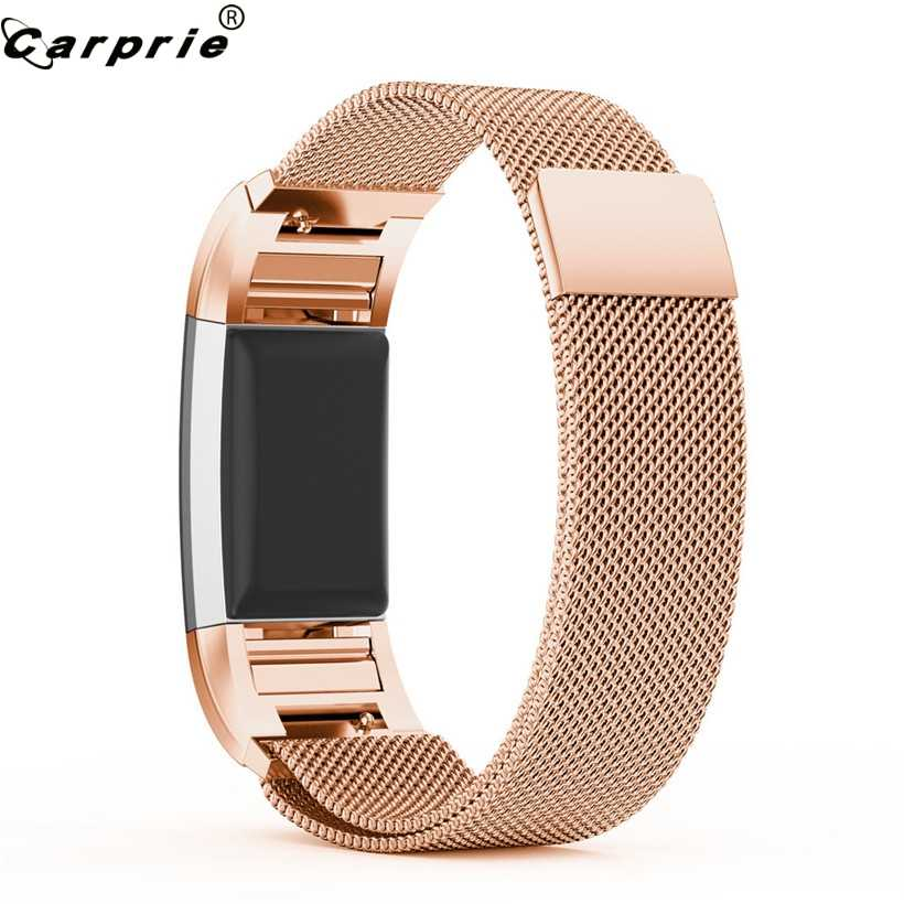 Newly Design Milanese Rose Gold Stainless Steel Strap Mesh Smart Wristband  Straps for Fitbit Charge 2 Tracker Band Replacement