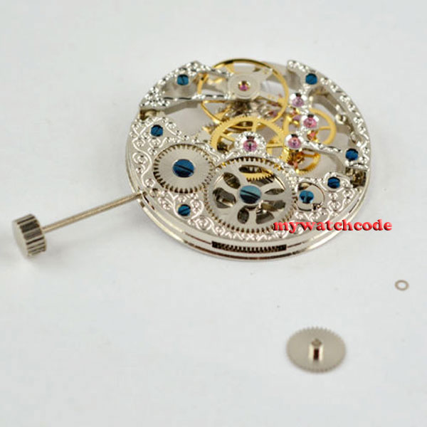 17 Jewels silver Full Skeleton 6497 Hand Winding movement fit parnis watch M517 Jewels silver Full Skeleton 6497 Hand Winding movement fit parnis watch M5