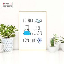 Color Chemistry Lab Safety Sign Art Canvas Print Poster Chemistry Science Laboratory Canvas Painting Wall Picture Art Decor(China)
