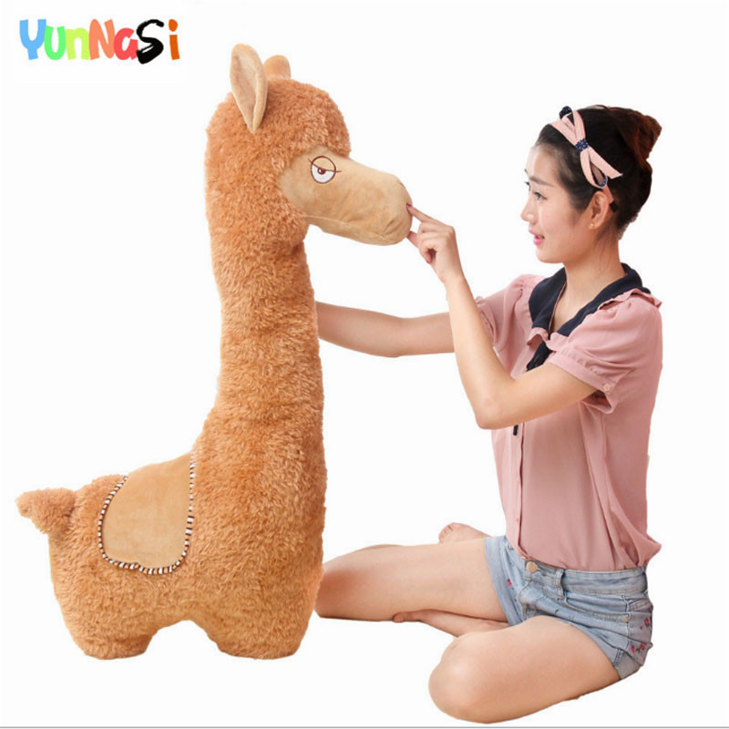 YunNasi Alpaca 100cm Plush Toys Stuffed Pillow Dolls Squishy Toys For Children Birthday Gifts For Girls Toy Alpaca Cushion Soft