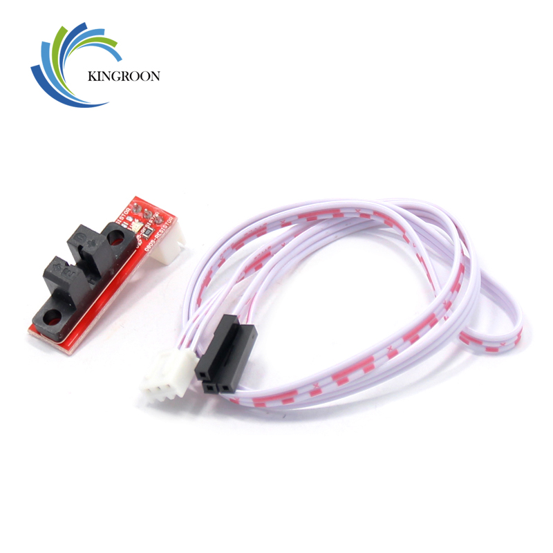Endstop Optical Light Control Limit Switch With 3 Pin Cable 3D Printers Parts For RAMPS 1.4 Board Part Accessories White Red DIY