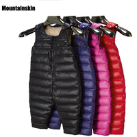 NEW Winter Children S Duck Down Bib Pants Toddler Overalls Baby Boys Girls Thick Warm Trousers