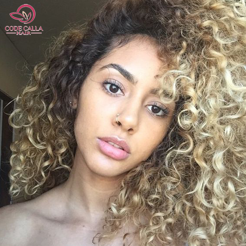 6a Ombre Peruvian Afro Kinky Curly Hair Bundles Nature