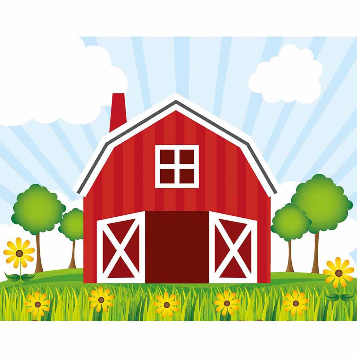 funnytree backgrounds for photo studio red barn cartoon farm kids