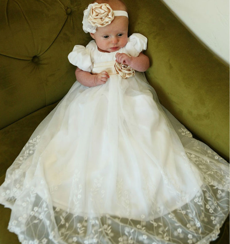 ФОТО ADK Baby Girls Christening Gown Baby Girls Baptism Clothes Toddler Infant CLothing Newborn Elegant Dresses Birthday 3M-24M BC14