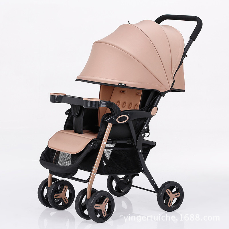 4.5KG ultra light portable baby stroller can sit reclining stroller baby stroller folding child car umbrella car bb stroller baby stroller ultra light portable folding cart shock absorbers car umbrella bb baby child small baby car