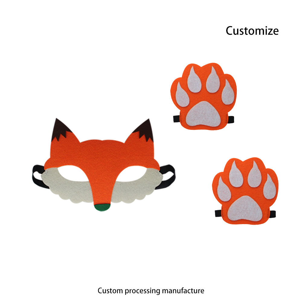 Special Animal Mask And Paw Masque Outfits Babies New Year Mask Toys Toddlers Christmas Gifts Fox Animal Costume Bear Cosplay