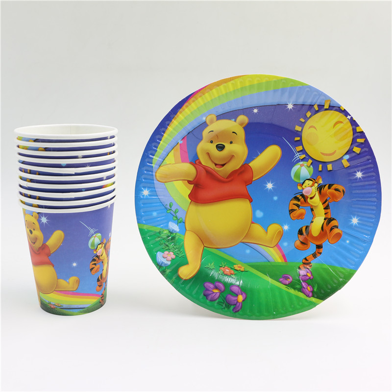 60pcs/lot Winnie the pooh theme Baby birthday party plate cup glasses favor gift for Kids Event Party Supplies for 30people on Aliexpress.com | Alibaba ... & 60pcs/lot Winnie the pooh theme Baby birthday party plate cup ...