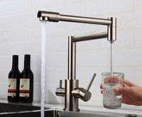 Filter Kitchen Faucet Drinking Water Single Hole Black Hot and cold Pure Water Sinks Deck Mounted Mixer Tap DR89