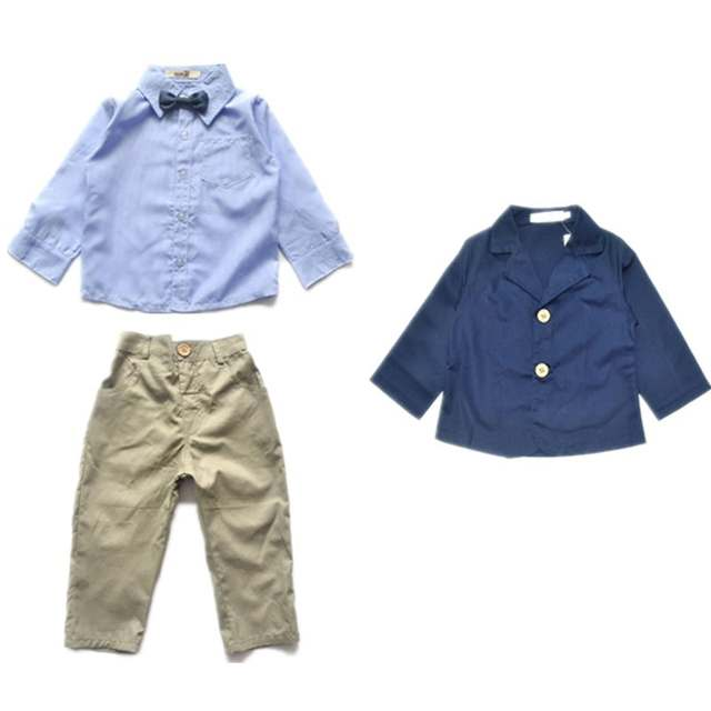 656b0493dad5 placeholder 2017 Children Clothing Baby Boys Spring Autumn Formal Clothing  Set Kids Casual Clothing Suit Coat+