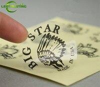 Custom Printed Paper Vinyl Transparent Clear PVC Adhesive Stickers Customized Wedding Invitation Birthday Envelope Size Stickers