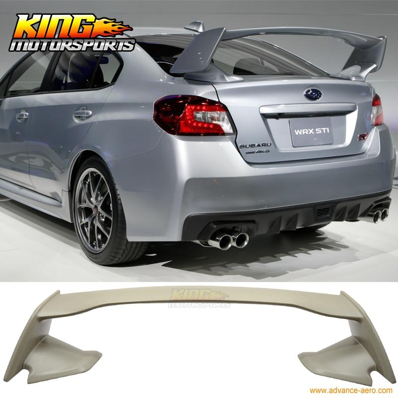 For 15-16 Subaru WRX STI OE Style ABS Unpainted Rear Trunk Spoiler машины rmz city металлическая модель м1 64 subaru wrx sti 344014