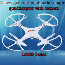 Free Shipping Hot Sell RC Helicopter L6039 UFO Of Explorers 2.4G 4CH 6 Axis Rc Drone With Hd Camera Quadcopter VS SYMA X5C F183