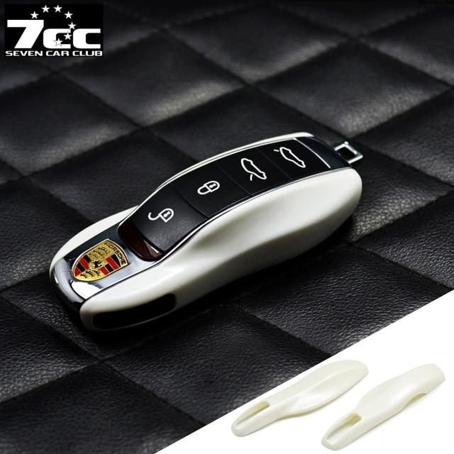 Жемчужно-Белый FOB Дистанционный Ключ Замена Крышки Случая для Porsche Макан boxster cayman 911 Panamera Cayenne