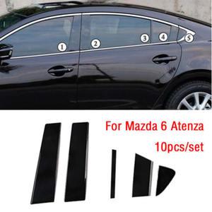 Image 1 - 10PC Window Pillar Posts trim Cover Molding for Mazda 6 Atenza 2014 2018 Middle BC Column Sticker for MAZDA 6 Strip