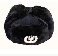 Yetişkinler kış kürk cap kış guard şapka lei feng kap kış kap kış kürk şapka kalın askeri şapka
