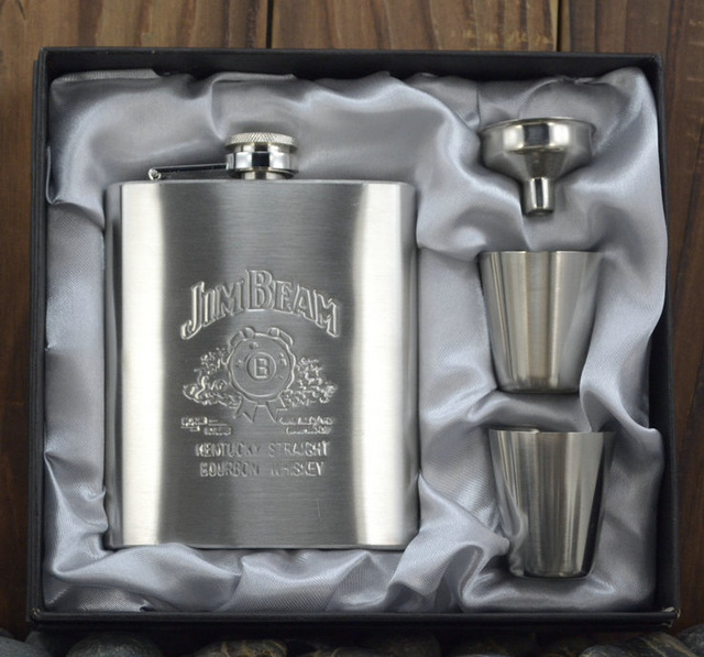 New Arrival 7oz Luxury Stainless Steel Leather Hip Flask Personalized Whiskey Jagermeister Drink Mug With