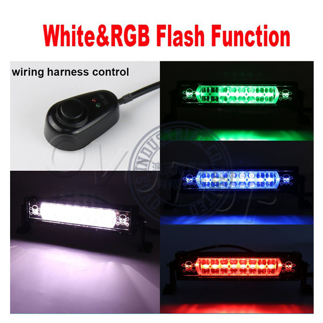 1PCS 20inch Dual Row wired control White RGB color 120w led light Skull Logo bar for_640x640 1pcs 20inch dual row wired control white&rgb color 120w led light  at gsmx.co