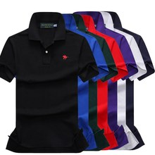 New cotton short sleeve men small horse polo shirts embroidery riding Ribbed Polo collar tail classic fit Best quality 866