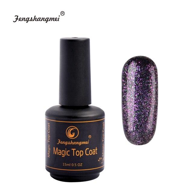fengshangmei 15ml Magic Gel Top Coat UV Glitter Gel Polish Nail-in ...