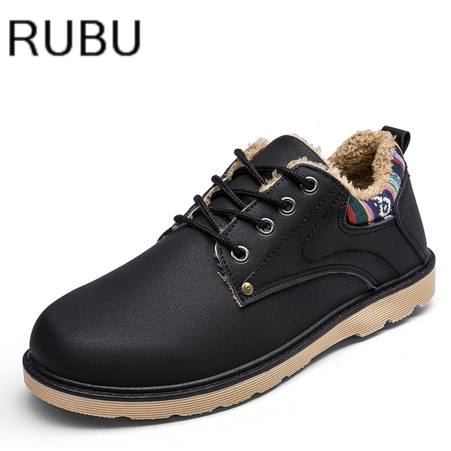 513dab0ac2fe6 Winter Warm Fur Brand Handmade Men s Oxford Shoes Top Quality Dress Men  Fashion Leather Casual Snow plush man ankle boots  10